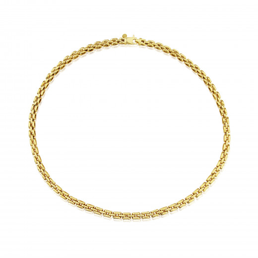 9ct Yellow Gold Three Row Panther Necklace