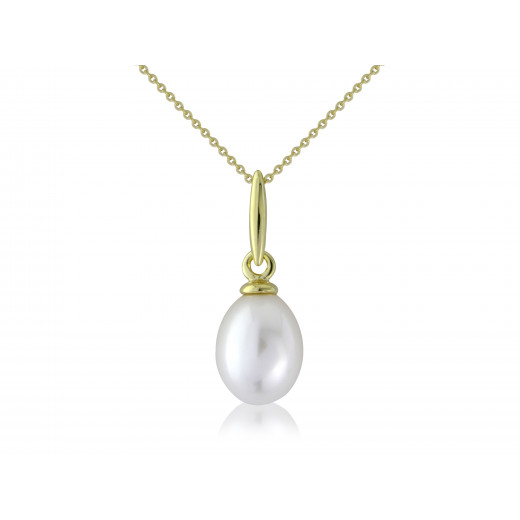 9ct Yellow Gold Pearl Pendant Necklace