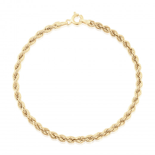 9ct Yellow Gold Rope Bracelet