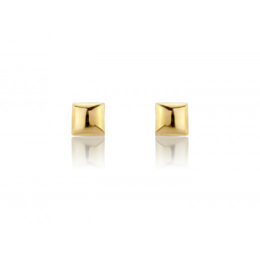9ct Yellow Gold 5Mm Square Stud Earrings