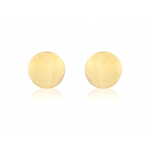9ct Yellow Gold Round Stud Earrings