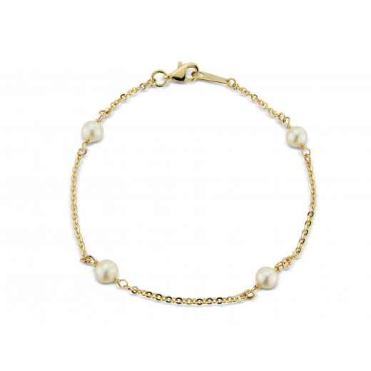 9ct Yellow Gold Pearl Bracelet
