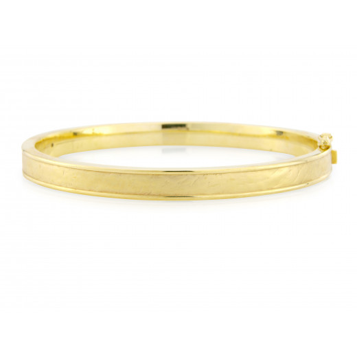 9ct Yellow Gold 6mm Bangle