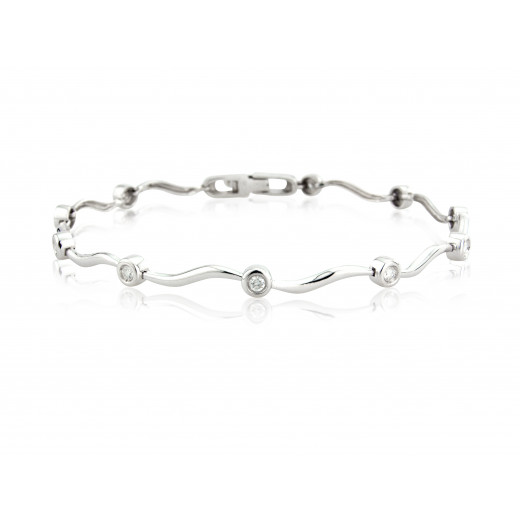 9CT White Gold Bracelet