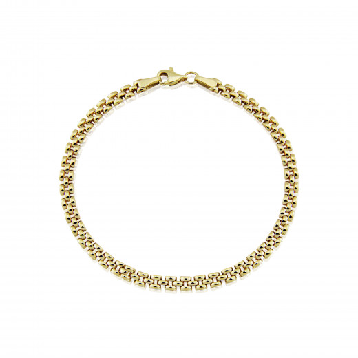 9ct Yellow Gold Panther Link Bracelet