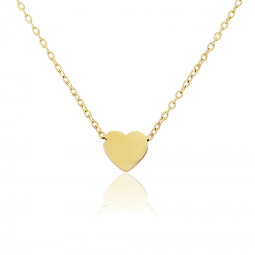 9ct Yellow Gold Heart Pendant Necklace