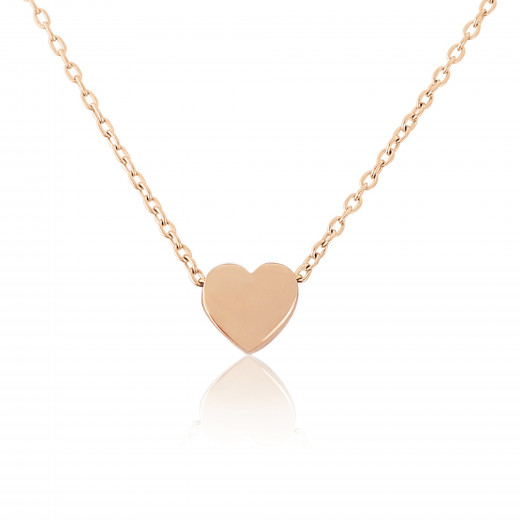 9ct Rose Gold Heart Pendant Necklace