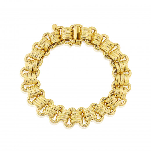 9ct Yellow Gold Gate Bracelet