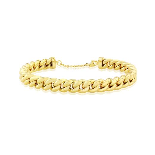 9ct Yellow Gold Chain Bangle
