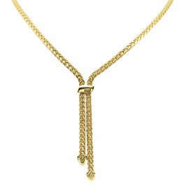 9ct Yellow Gold Lariat Necklace