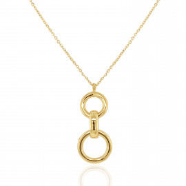 9ct Circles Pendant Necklace