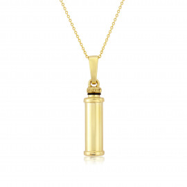 9ct Yellow Gold Cyclinder Bottle Pendant  Necklace