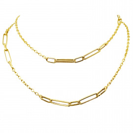 9ct Yellow Gold Link & Chain Necklace