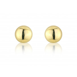 9ct Yellow Gold Half Bead Stud Earrings