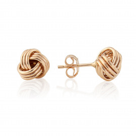 9ct Rose Gold Wool Mark Knot Earrings