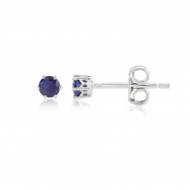 9ct White Gold Sapphire Stud Earrings
