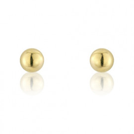 9ct Yellow Gold Small Plain Gold Ball Studs Earrings