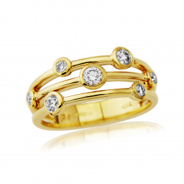 18ct Yellow Gold Diamond Cascade Ring