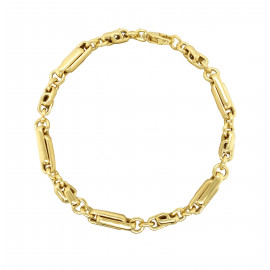 9ct Yellow Gold Long & Short Knot Bracelet
