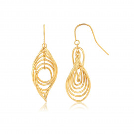 9ct Yellow Gold Twist Drop Earrings