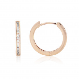 9ct Rose Gold Cubic Zirconia Earrings