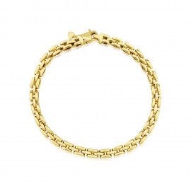 9ct Yellow Gold Three Row Panther Bracelet