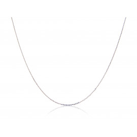 18ct White Gold Trace Chain