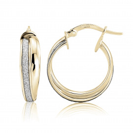 9ct Yellow Gold Glitter Small Earrings