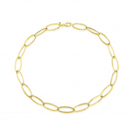 9ct Yellow Gold Oval Link Necklace