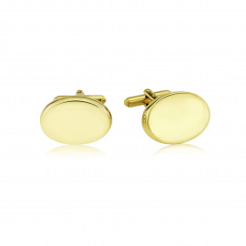 9ct Yellow Gold Polished Pebble Cufflinks