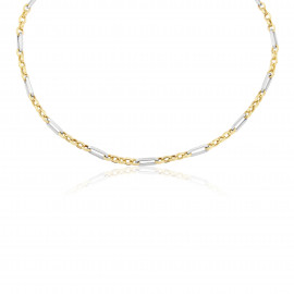 9ct Yellow & White Gold Link Necklace