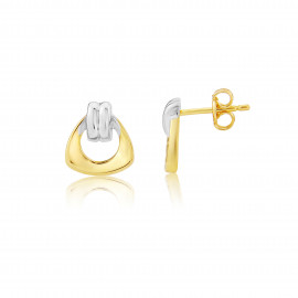 9ct Yellow and White Gold Earrings