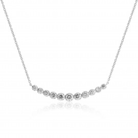 18ct White Gold Diamond Graduated Necklace