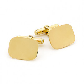 9ct Yellow Gold Oval Cufflinks