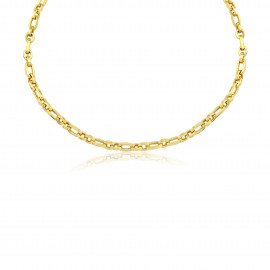 9ct Solid Yellow Gold Oval Link Necklace