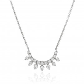 9ct White Gold Diamond Bridesmaid Necklace