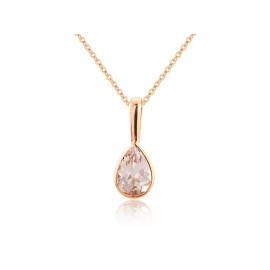9ct Rose Gold Morganite Pendant Necklace
