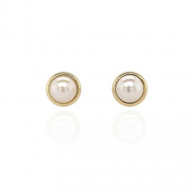9ct Yellow Gold Culture Pearl Stud Earrings