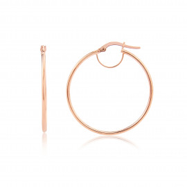 9ct Rose Gold Small Plain Hoop Earrings