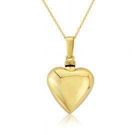9ct Yellow Gold Heart Bottle Pendant  Necklace