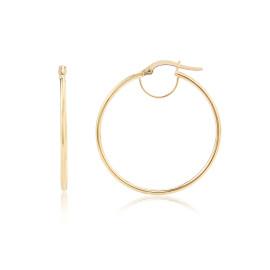9ct Yellow Gold Small Plain Hoop Earrings