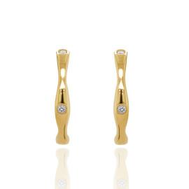 9ct Yellow Gold Diamond Bones Earrings