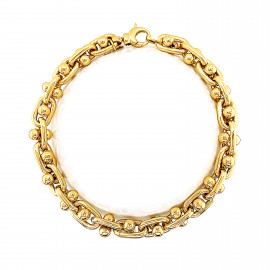 9ct Yellow Gold Knobbles Bracelet