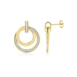 9ct Yellow Gold Glitter Sun Earrings