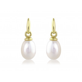 9ct Yellow Gold Pearl Earrings