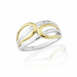 9ct Yellow And White Gold Ring