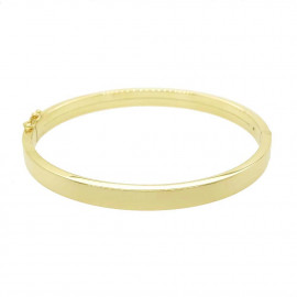 9ct Yellow Gold Square Edge Bangle