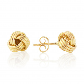 9ct Yellow Gold Wool Mark Knot Earrings