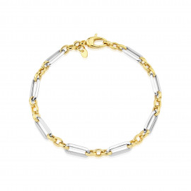 9ct Yellow & White Link Bracelet
