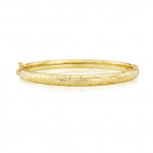 9ct Yellow Gold Hand-Engraved Bangle